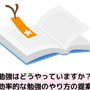 【雑記】勉強のやり方 効率的な勉強のやり方の提案