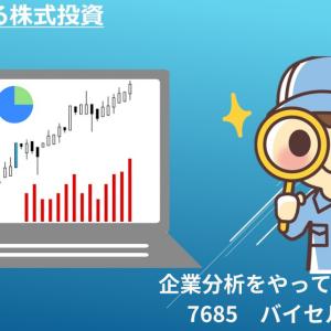【企業分析】企業分析 証券番号7685 バイセル