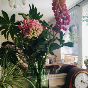 お花で家を飾る