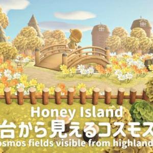【あつ森】高台から見えるコスモス畑【島クリエイト】