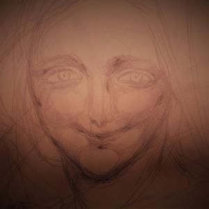 顔描いて現実逃避