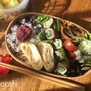 梅雨時のお弁当対策4点!野菜多めのオクラの肉まき弁当