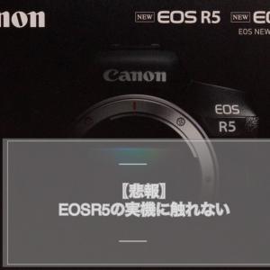 【悲報】EOSR5の実機に触れない