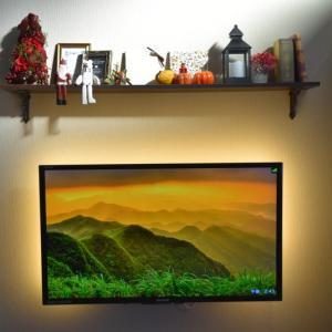 壁掛けテレビにしてLEDテープも貼ってみた!高見えテレビDIY完結。