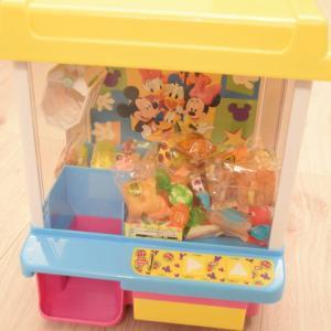 お菓子は何を入れる?クレーンゲームのおもちゃ(ミッキー&フレンズ)でおやつを楽しむ!