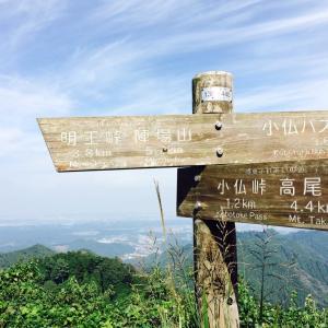 陣馬山から高尾山への縦走