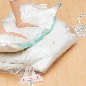 610円!布団がコンパクトに、誰でも簡単にできるニトリの掃除機がいらない消臭布団圧縮袋