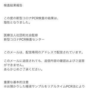 民間PCR検査結果