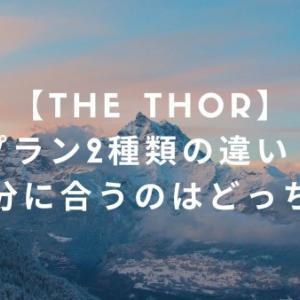 【THE THOR】プラン2種類の違い!自分に合うのはどっち?