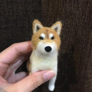 羊毛フェルト 柴犬 お顔 制作中!②