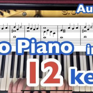 オーラ・リーを12のキーに移調して弾きました
