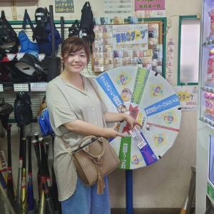 勝利のダーツで1000円分バッティング商品券が出ました!