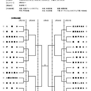 ダイワハウス杯第3回日本少年野球北九州大会の組み合わせ(中学硬式)