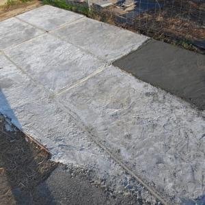 DIY土間コンクリートで駐車場作り