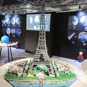 レゴの世界遺産展と金色のエッフェル塔