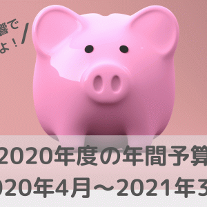 2020年度の年間予算(2020年4月~2021年3月)