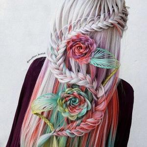 もはや芸術!複雑でファンタジックな三つ編みスタイル
