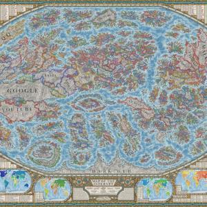ネットの世界を視覚化した「2021年版インターネット地図」ーグーグル大陸やInstagram国、Twitter国