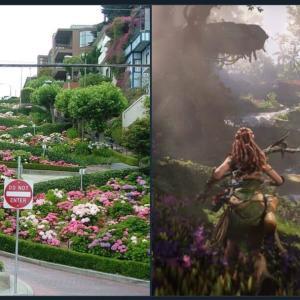 文明崩壊したサンフランシスコが舞台のゲーム「ホライゾン 禁じられた西部」ゲームと現実の比較画像がすごい!