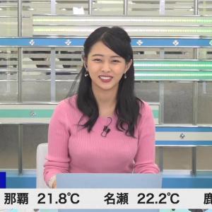 角田奈緒子キャスター お天気界の巨乳予報士をキャプ!【画像】