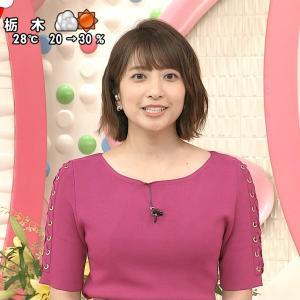 笹崎里菜アナ いろんな色の衣装が似合う女子アナをキャプ!【画像】