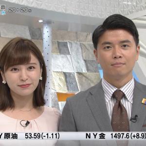 角谷暁子アナ 隣の男性アナに密かに巨乳を押し付ける角谷アナをキャプ!【画像】