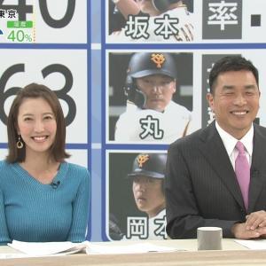 小澤陽子アナ おでこ全開がかわいいニット巨乳女子アナ【キャプ画像】