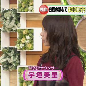 宇垣美里アナ 横顔もかわいい女子アナ【キャプ画像】