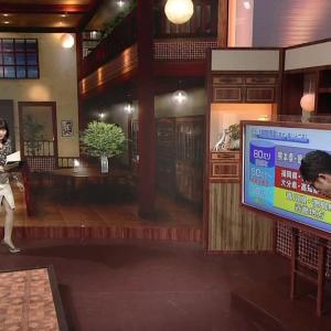 井上あさひアナ セクシー前開きスリットスカートで内ももが見えた【キャプ画像】