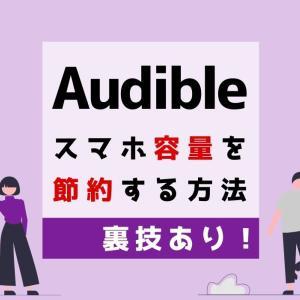 【裏技あり】Audibleのデータはどれくらい?スマホの容量を節約する方法