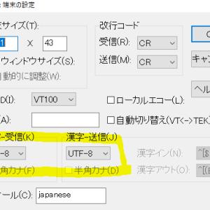 【TeraTerm】日本語が入力できない