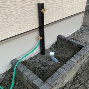 外構工事 始まりました 〜立水栓&物干しスペース〜