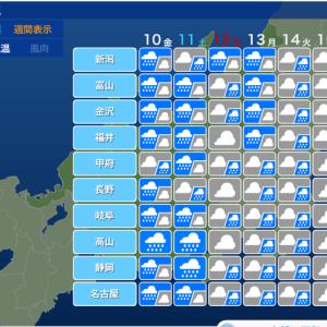 今週末も天気は悪いのじゃ!