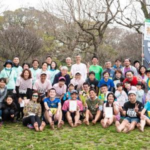 裸足ランニング、福岡大濠公園ハーフマラソンに参加