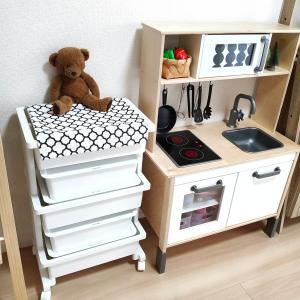 【IKEA】おしゃれで収納力大幅UP♪ワゴンを使ったおもちゃ収納!!