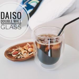 【ダイソー】ようやくゲット♡売切れ続出のダブルウォールグラスはコスパ高くて最高でした♪