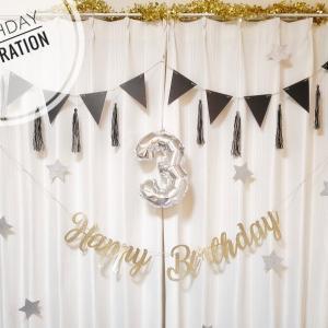 【イベント飾り】セリアとダイソーで誕生日の飾り付け♡とっても高見えでおすすめです♪