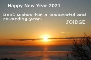 新年明けまして 2021 おめでとうございます。