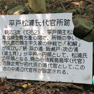 平戸松浦氏代官所跡の階段周辺を清掃( ´_ゝ`)ノ