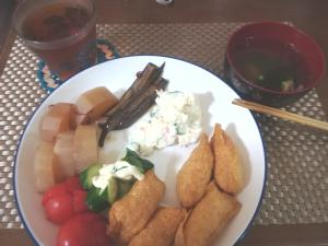 稲荷寿司とポテトサラダは10%引き(*^^)v