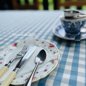 森の中でお茶タイム♪