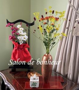 明日からお彼岸なのでお花を飾りました♪