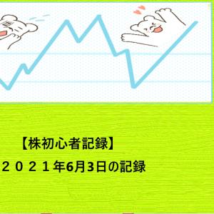 【株初心者記録】2021年6月3日の記録
