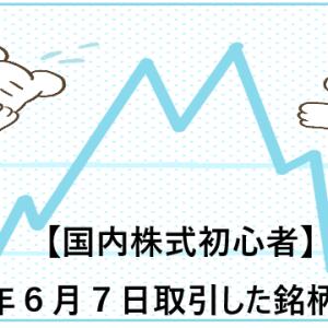 【国内株式初心者】2021年6月7日取引した銘柄の記録