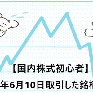 【国内株式初心者】2021年6月10日取引した銘柄の記録