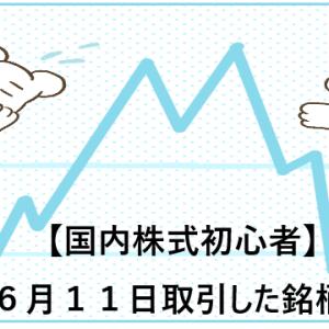 【国内株式初心者】2021年6月11日取引した銘柄の記録