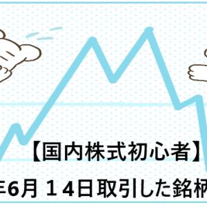 【国内株式初心者】2021年6月14日取引した銘柄の記録
