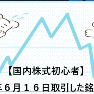 【国内株式初心者】2021年6月16日取引した銘柄の記録