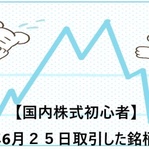 【国内株式初心者】2021年6月25日取引した銘柄の記録