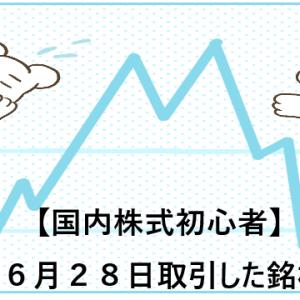 【国内株式初心者】2021年6月28日取引した銘柄の記録